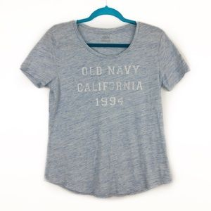 Old Navy Heather Blue California 1994 Graphic Tee